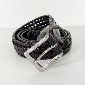 Fossil Bonded Leather Woven Belt